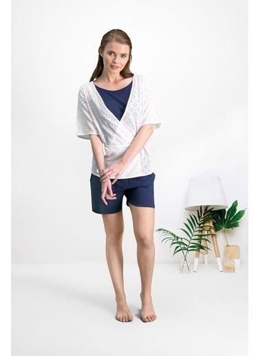 Pierre Cardin Pierre Cardin Krem Kadın Pantolon, Atlet, Bluz 3'Lü Takım Krem